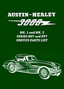 Boek: Austin-Healey 3000 Mk 1 and Mk 2 (Series BN7 and BT7) - Official Service Parts List