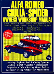 Boek: Alfa Romeo Giulia - Spider (1962-1978) - Owners Workshop Manual