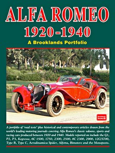 Boek: Alfa Romeo (1920-1940) - Brooklands Road Test Portfolio