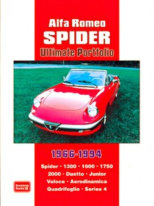Boek: Alfa Romeo Spider - 1300, 1600, 1750, 2000 (1966-1994) - Brooklands Ultimate Portfolio