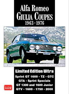 Boek: Alfa Romeo Giulia Coupes (1963-1976) - Brooklands Portfolio