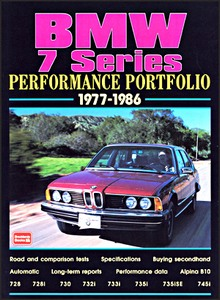 Boek: BMW 7 Series (1977-1986) - Brooklands Performance Portfolio