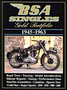 Livre : BSA Singles (1945-1963) - Brooklands Gold Portfolio
