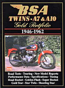 Livre : BSA Twins A7 & A10 (1946-1962) - Brooklands Gold Portfolio