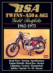 Livre : BSA Twins A50 & A65 Gold Portfolio 1962-1973 - Brooklands Gold Portfolio