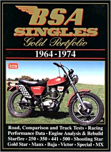 Livre : BSA Singles 1964-1974 - Brooklands Gold Portfolio