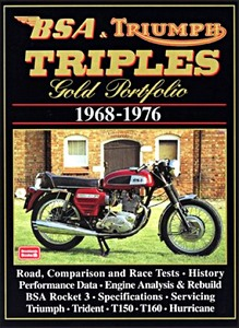 Livre : BSA & Triumph Triples (1968-1976) - Brooklands Gold Portfolio
