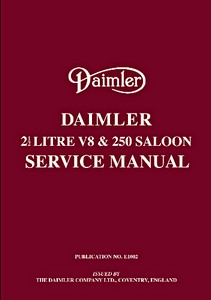 Boek: Daimler 2.5 V8 and 250 Saloon - Official Service Manual