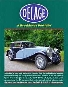 Boek: Delage - Brooklands Road Test Portfolio