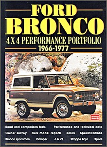 Livre : Ford Bronco 4x4 Performance Portfolio 1966-1977 - Brooklands Performance Portfolio