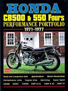 Livre : Honda CB500 & 550 Fours (1971-1977) - Brooklands Performance Portfolio