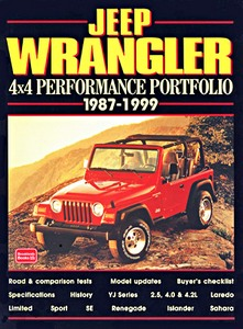 Livre : Jeep Wrangler 4x4 (1987-1999) - Brooklands Performance Portfolio