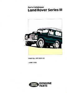 Boek: Land Rover Series III - 88/109/109 V8 - Official Parts Catalogue