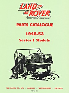 Boek: Land Rover Series 1 (1948-1953) - Official Parts Catalogue