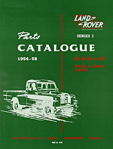 Boek: Land Rover Series 1 (1954-1958) - Official Parts Catalogue