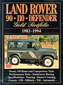 Livre : Land Rover 90, 110, Defender (1983-1994) - Brooklands Gold Portfolio