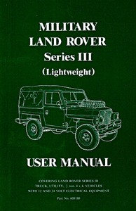 Livre : Land Rover Military Series 3 Lightweight - Official User Manual