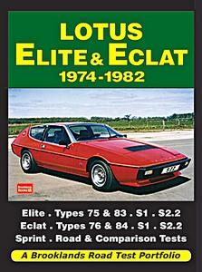 Boek: Lotus Elite & Eclat (1974-1982) - Brooklands Road Test Portfolio
