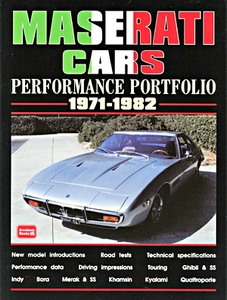 Boek: Maserati Cars (1971-1982) - Brooklands Performance Portfolio