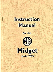 Boek: MG Midget TC - Official Instruction Manual