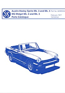 Boek: Austin-Healey Sprite Mk 3 and Mk 4 / MG Midget Mk 2 and Mk 3 - Official Parts Catalogue