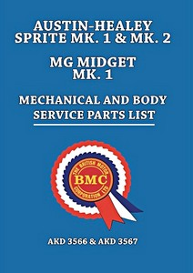 Boek: Austin-Healey Sprite Mk 1 & Mk 2 / MG Midget Mk 1 - Official Mechanical and Body Service Parts List