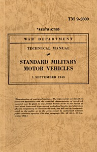Boek: United States Standard Military Motor Vehicles (War Department September 1943 edition of TM 9-2800)