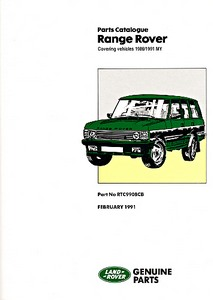 Livre : Range Rover Petrol 3.5, 3.9 / Diesel 2.4 (VM) (1986-1992) - Official Parts Catalogue