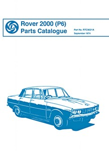 Boek: Rover 2000 (P6) - Parts Catalogue