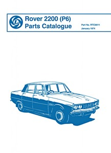 Boek: Rover 2200 (P6) - Official Parts Catalogue