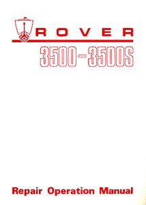 Boek: Rover 3500 & 3500S (P6) - Official Repair Operation Manual