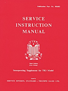 Livre : Triumph TR2 & TR3 - Official Service Instruction Manual