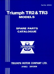 Livre : Triumph TR2 & TR3 (1953-1963) - Spare Parts Catalogue (Soft Cover)
