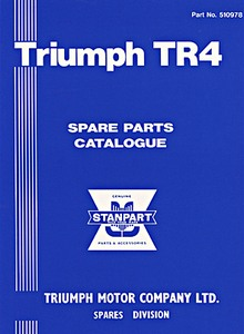 Livre : Triumph TR4 (1961-1964) - Spare Parts Catalogue