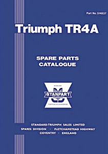 Livre : Triumph TR4A (1965-1968) - Spare Parts Catalogue
