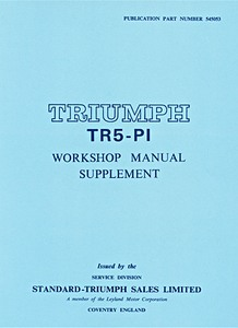 Livre : Triumph TR5-Pi - Workshop Manual Supplement