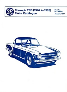 Livre : Triumph TR6 (1974-1976) - Parts Catalogue