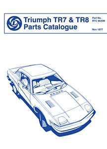 Livre : Triumph TR7 & TR8 - Parts Catalogue