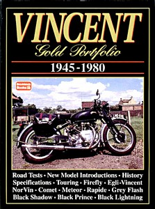 Livre : Vincent (1945-1980) - Brooklands Gold Portfolio