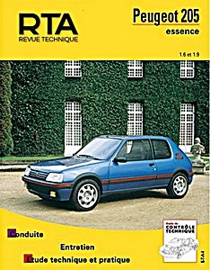 Boek: Peugeot 205 - essence 1.6 et 1.9 (1984-1997) - Revue Technique Automobile (RTA)
