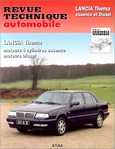 Boek: Lancia Thema - 4 cylindres essence et Diesel (1984-1993) - Revue Technique Automobile (RTA)