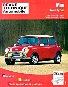 Boek: Mini - tous types: Austin - Innocenti - Morris - Riley - Wolseley - Cooper (1959-1992) - Revue Technique Automobile (RTA)