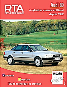 Boek: Audi 80 - 4 cylindres essence et Diesel (1992-1994) - Revue Technique Automobile (RTA)