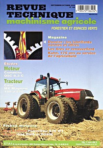 Boek: Case Magnum MX 180, MX 200, MX 220, MX 240, MX 270 - moteur Cummins QSC 8.3 C - Revue Technique Machinisme Agricole (RTMA)