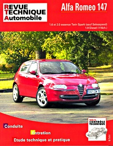 Boek: Alfa Romeo 147 - essence 1.6 et 2.0 Twin Spark / 1.9 Diesel (9/2000-11/2005) - Revue Technique Automobile (RTA)