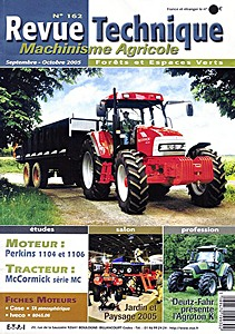 Boek: McCormick série MC : MC 95, MC 105, MC 115, MC 120 Power6, MC 135 Power6 - moteurs Perkins 1104 et 1106 - Revue Technique Machinisme Agricole (RTMA)