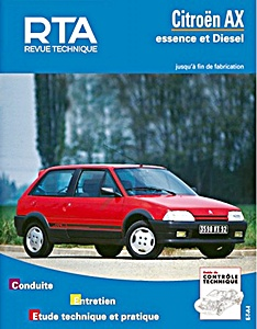 Boek: Citroën AX - essence et Diesel (1987-1994) - Revue Technique Automobile (RTA)