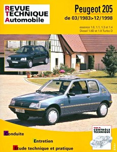 Boek: Peugeot 205 - essence 1.0, 1.1, 1.3 et 1.4 / Diesel 1.8D et 1.8 Turbo D (03/1983-12/1998) - Revue Technique Automobile (RTA)