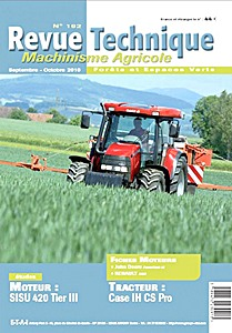 Boek: Case IH CS 85 Pro, CS 95 Pro, CS 105 Pro - moteur Sisu 420 (Tier III) - Revue Technique Machinisme Agricole (RTMA)