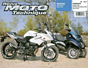 Buch: Piaggio MP3 400ie LT (2009-2010) / Yamaha XJ6 N et NA, XJ6 Diversion S/SA et F/FA (2009-2010) - Revue Moto Technique (RMT)